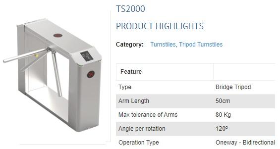 TS2000 TRIPOD BRIDGE TYPE